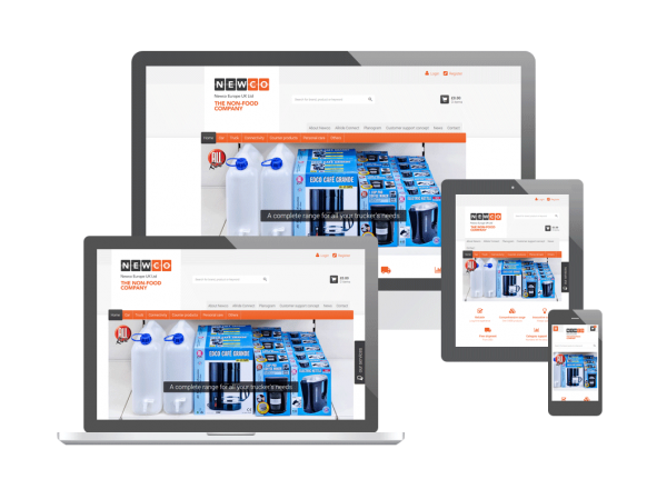Webdesign nieuwe webshop van Newco Europe