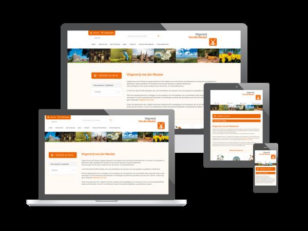 Nieuwe webshop voor Uitgeverij van der Meulen