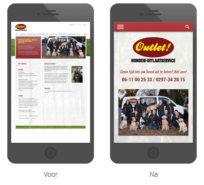 Responsive webdesign voor Hondenuitlaatservice Outlet!