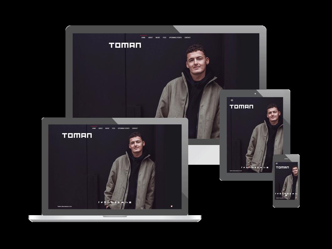 Website voor DJ Toman