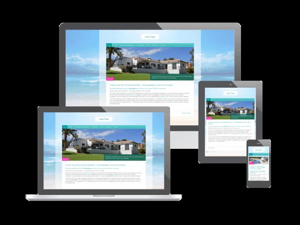 Website voor verhuur villa aan de Costa Blanca