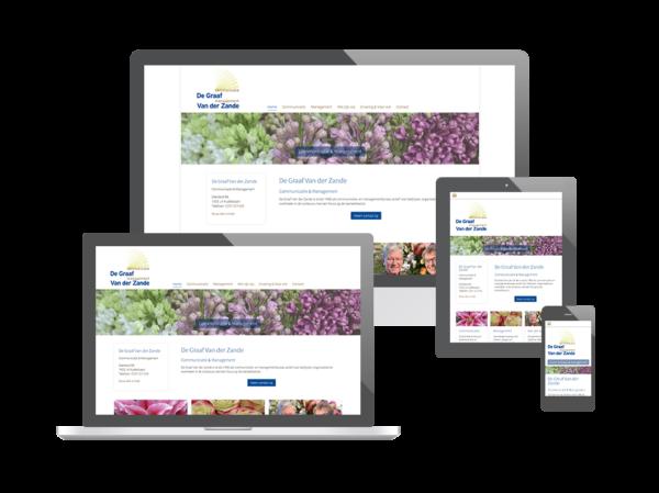 Website De Graaf Van der Zande Communicatie & Management