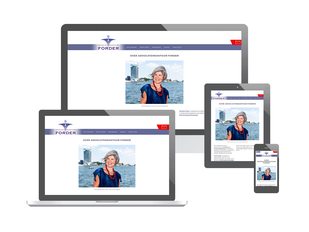 Website voor Advocatenkantoor Forder