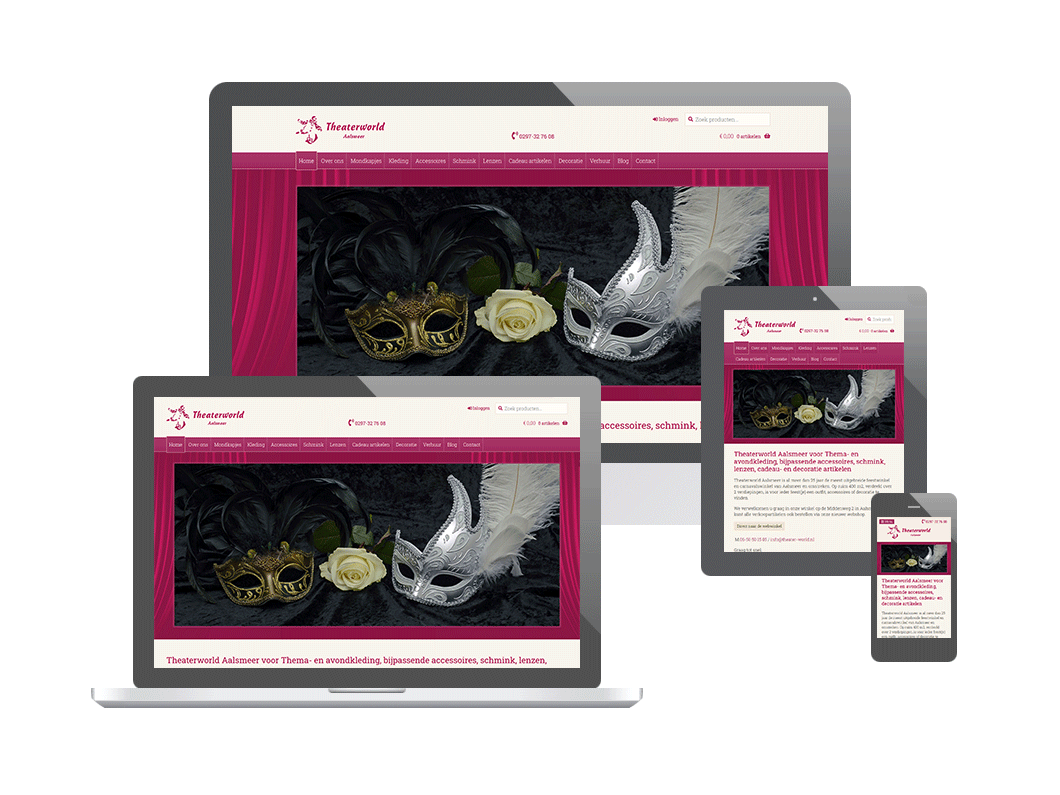 Webshop voor Theaterworld Aalsmeer