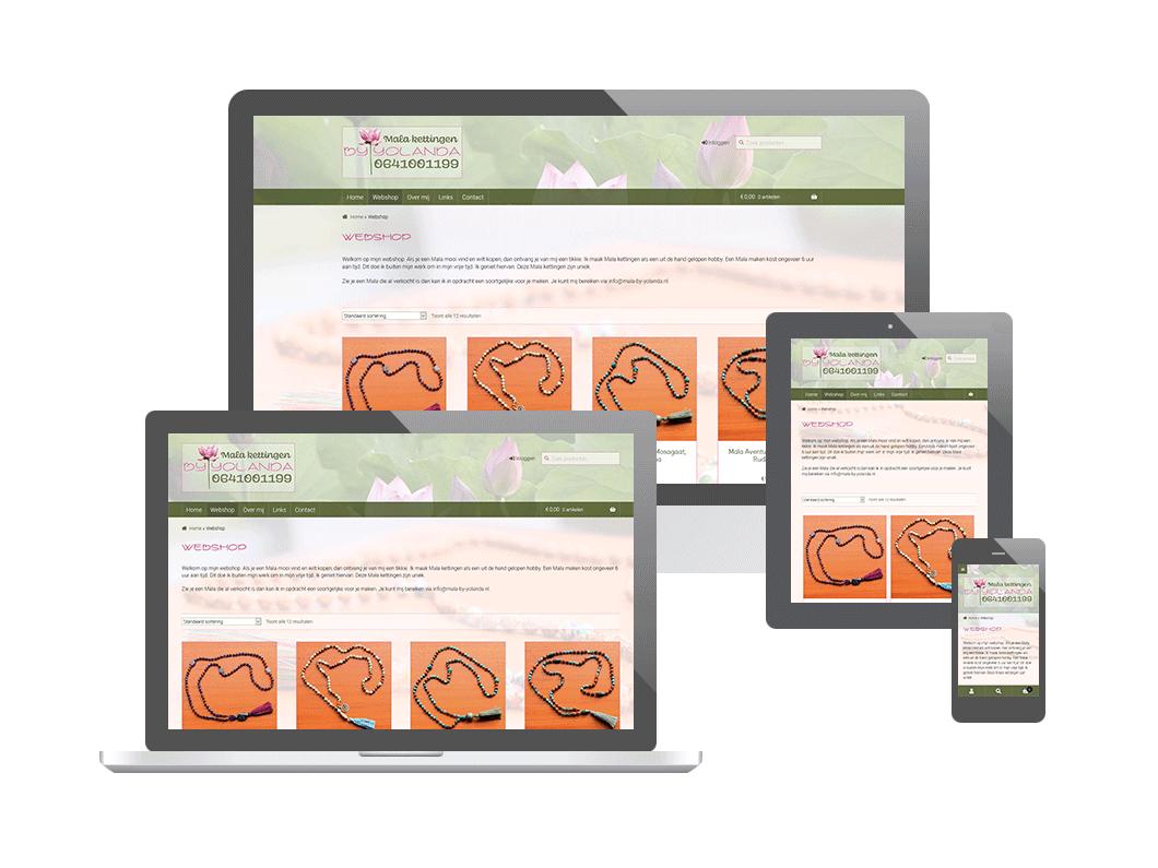Webshop voor Mala Kettingen by Yolanda