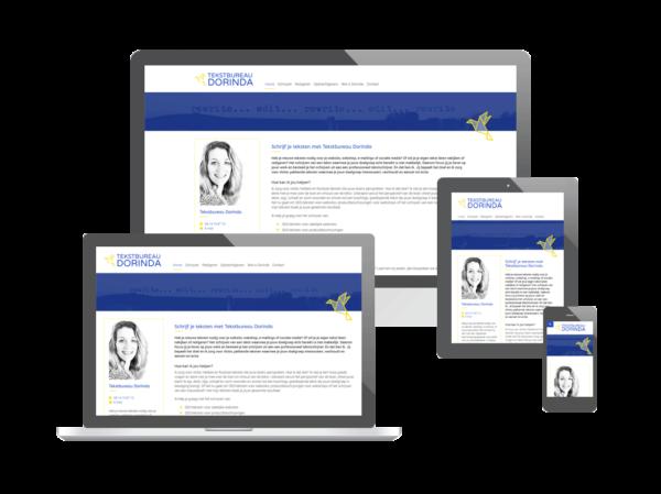 Website voor Tekstbureau Dorinda